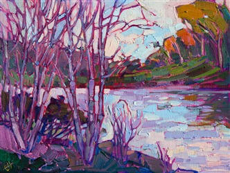 Big Canyon golf course landscape painting from Newport Beach, by Erin Hanson.