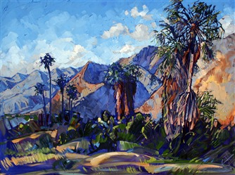 Palm Springs expressionist modern oil painting by Erin Hanson