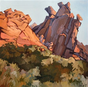 Valley of Fire state park oil painting