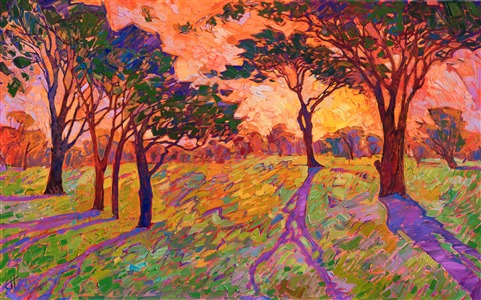 Crystal Sherbet, original oil painting by modern colorist and impressionist Erin Hanson