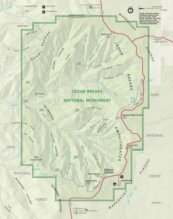 Bird's Eye view of Cedar Breaks National Monument