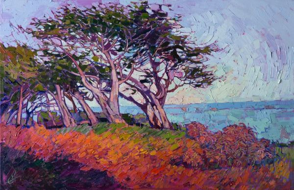Cypress, Oil on Canvas, by Erin Hanson