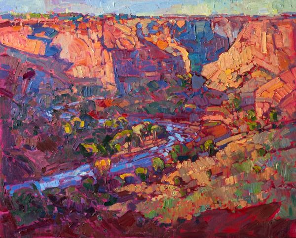 Shadows at Chelly, Oil on Canvas, by Erin Hanson