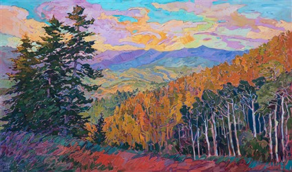 Park City Vista - original oil painting of Deer Valley Utah landscape