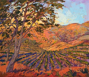 Napa Valley impressionistic oil painting, artwork by California painter Erin Hanson