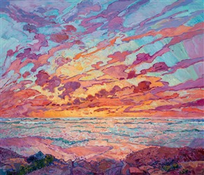 Torrey Pines inspired oil painting by San Diego explorer and oil painter Erin Hanson